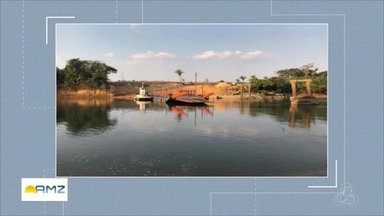 Balsa para travessia de veículos na RO-459 começa a funcionar em Rondônia