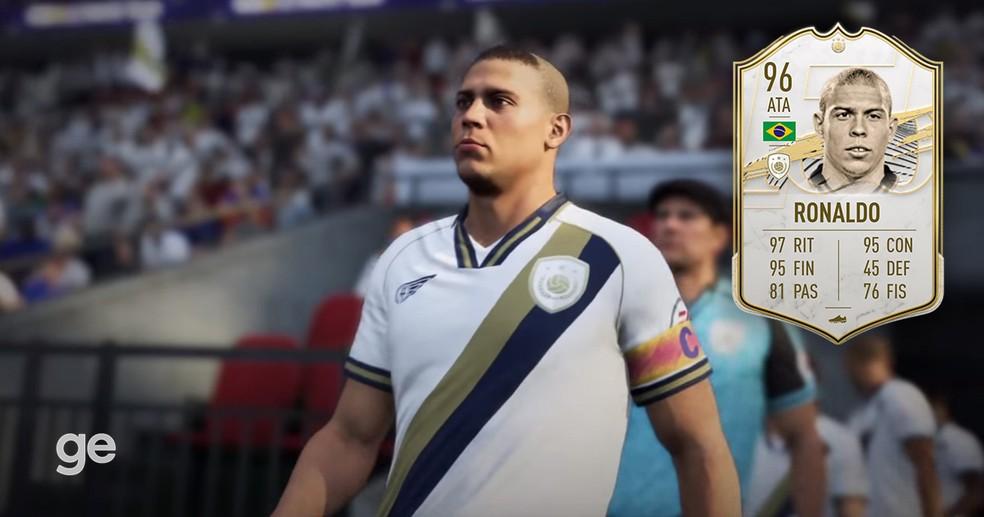 Ronaldo Fenômeno é o melhor centroavante do FIFA 21 — Foto: Reprodução