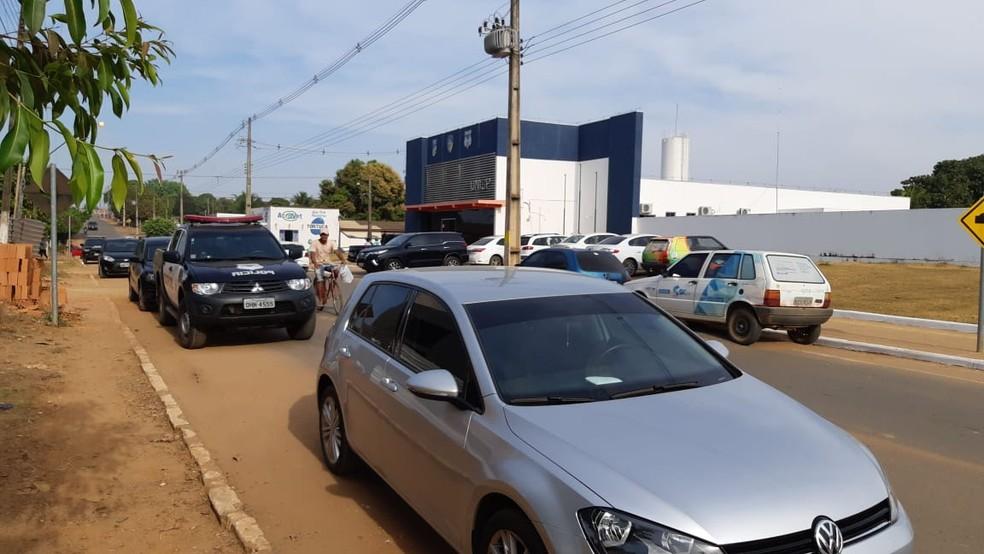 Conduzidos foram levados à Unisp de Jaru (Foto: Polícia Civil/Divulgação)