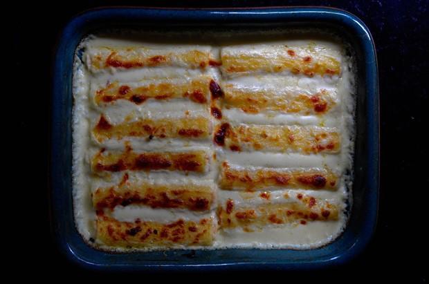 Canelone de salmão com ricota e queijo de cabra (Foto: Andre Lima de Luca)
