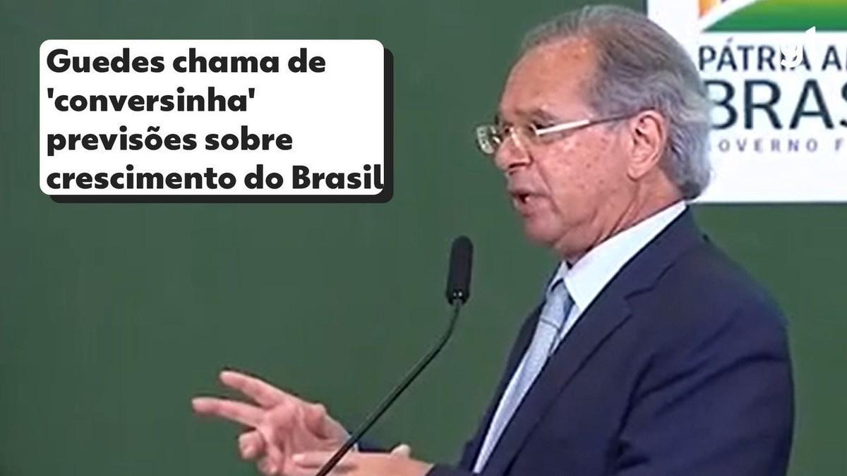 Guedes chama de 'conversinha' previsões que apontam baixo crescimento do Brasil