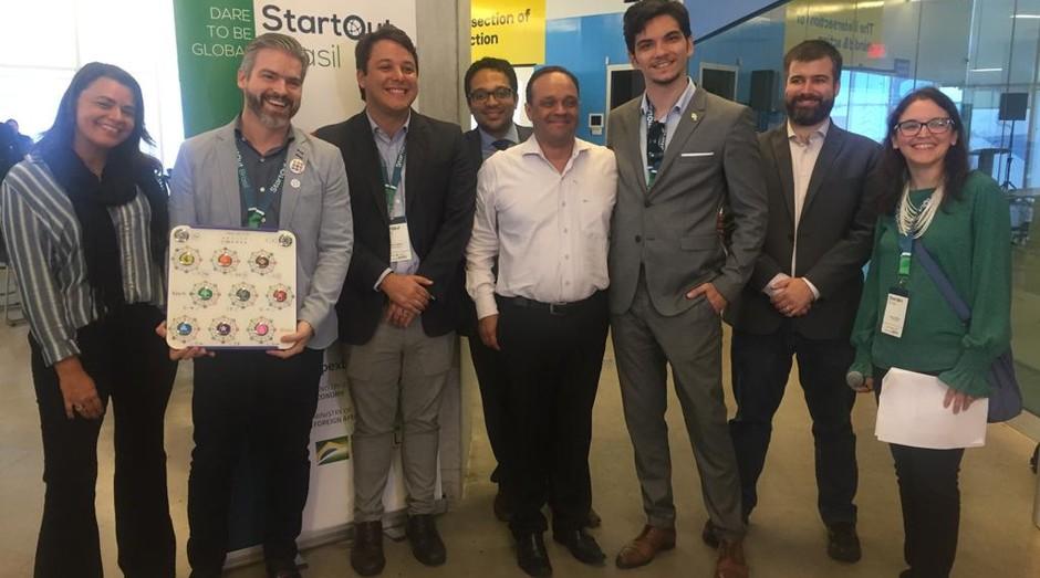 O StartOut Brasil foi promovido por Apex-Brasil, Sebrae, Anprotec, Ministério da Economia e Ministério das Relações Exteriores (Foto: Divulgação)