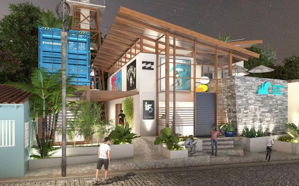 Instituto Ítalo Ferreira será construído em Baía Formosa — Foto: Divulgação
