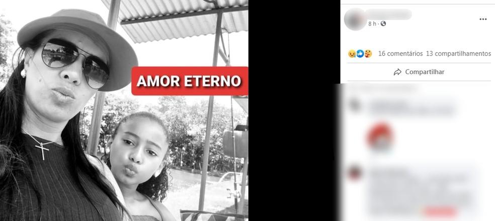 Ana Paula e Ana Vitória morreram após acidente em Marília — Foto: Facebook/Reprodução