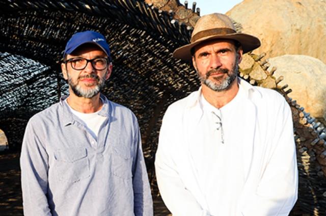 José Luiz Villamarim e George Moura (Foto: João Miguel Júnior/ TV Globo)