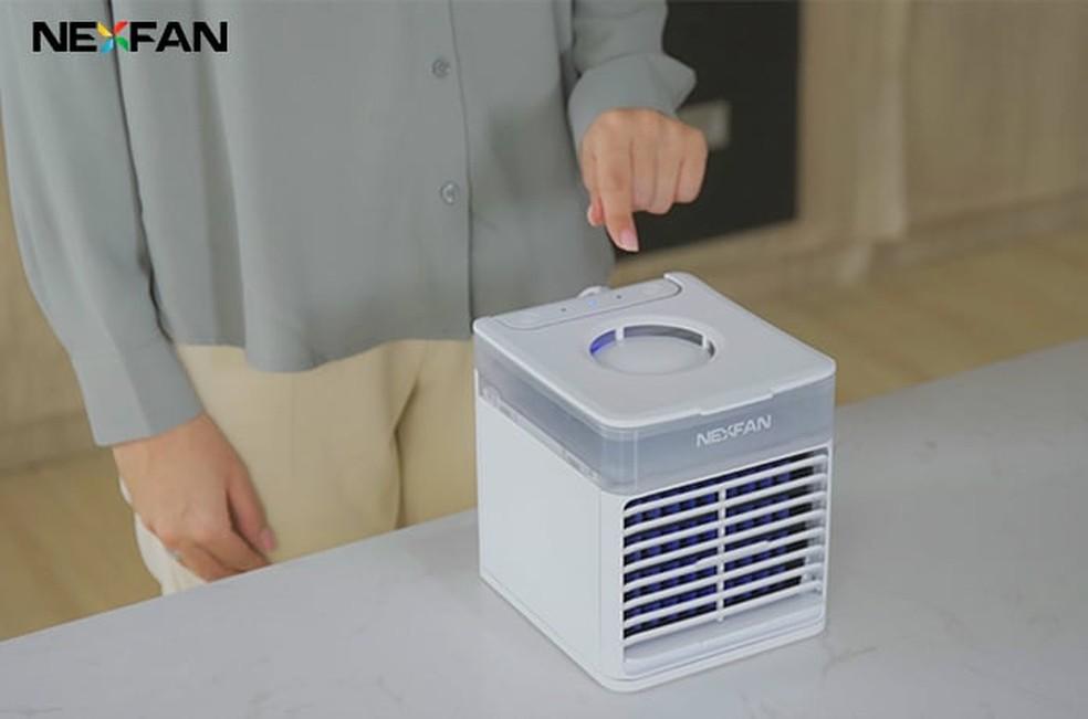 Ar-condicionado portátil usa tecnologia UV-C para purificar o ar — Foto: Divulgação/NexFan
