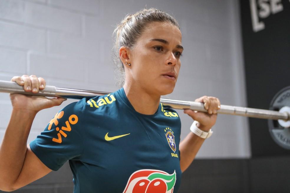 Tamires vem mandando muito bem no Mundial — Foto: Divulgação/CBF