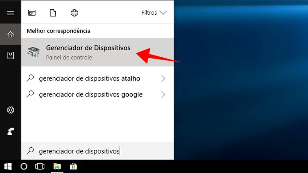 Acesse o gerenciador de dispositivos no Windows  Foto ReproduoPaulo Alves
