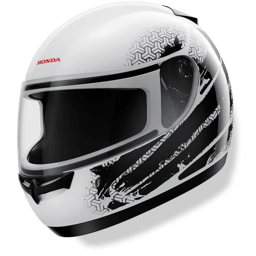 O capacete fechado é o mais indicado quando o assunto é segurança — Foto: Divulgação Arquivo Honda