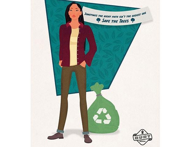 Pocahontas é a presidente de uma ONG voltada para a preservação do meio-ambiente e luta pela proteção e o uso sustentável de recursos naturais. (Foto: Reprodução / Matt Burt)