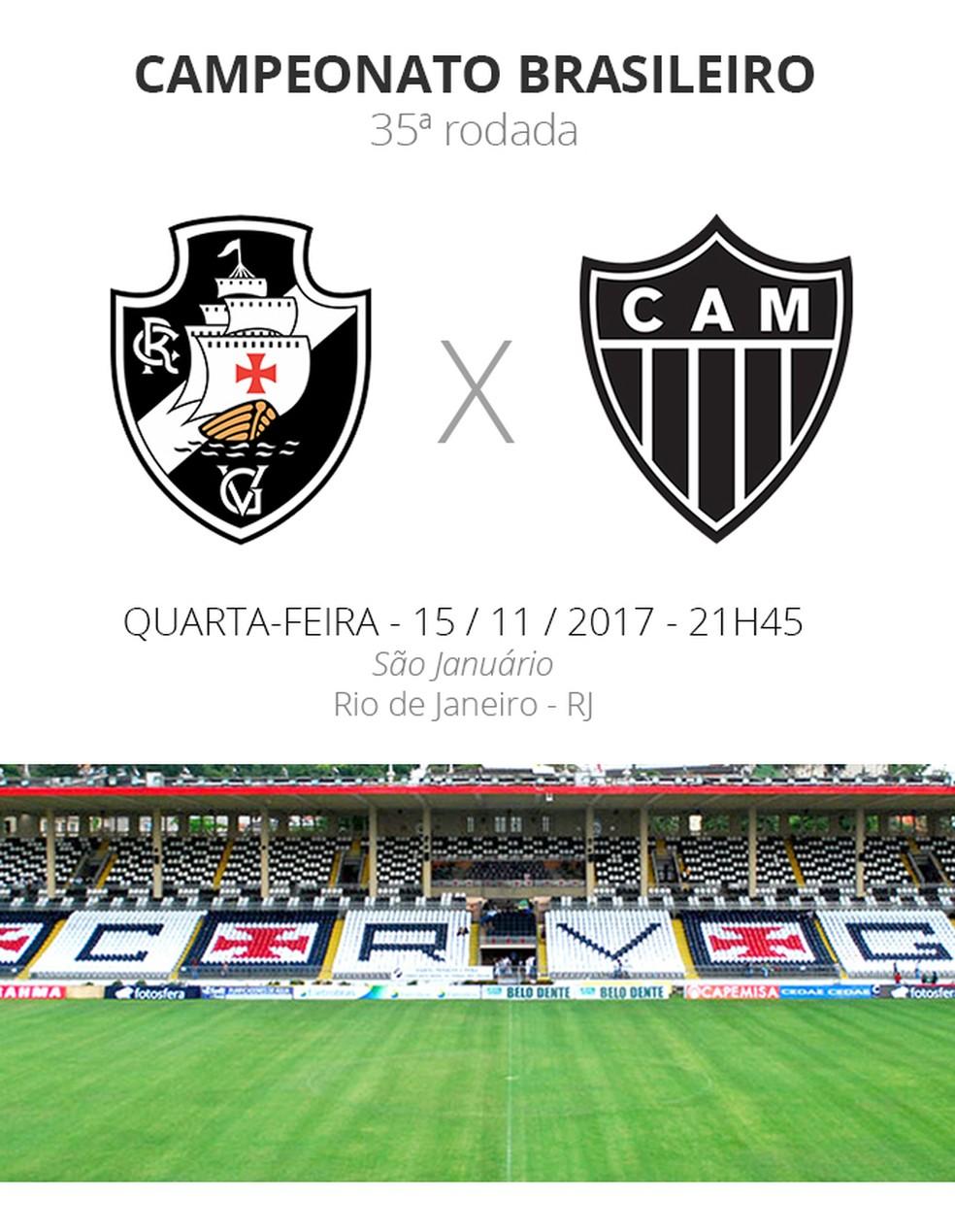 FICHA 35 dos jogos Vasco x Atlético-MG (Foto: infoesporte)