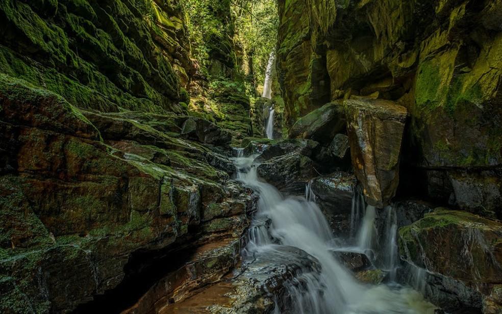 Cascata em Jaguariaíva — Foto: Jeandré Guimarães/Prefeitura de Jaguariaíva/Divulgação