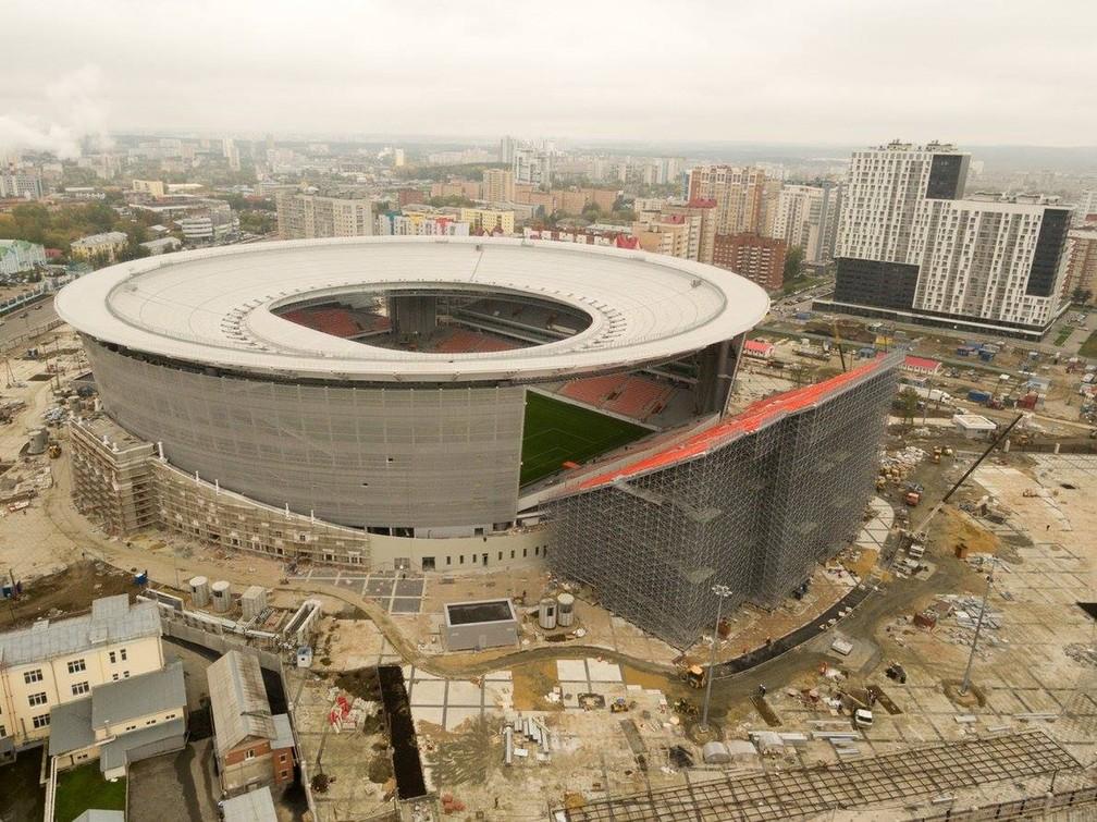 Ekaterinburg Arena, estádio da cidade sede mais ao leste da Copa (Foto: Divulgação/Fifa)