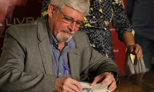 O ex-procurador Rodrigo Janot no lançamento de seu livro em São Paulo