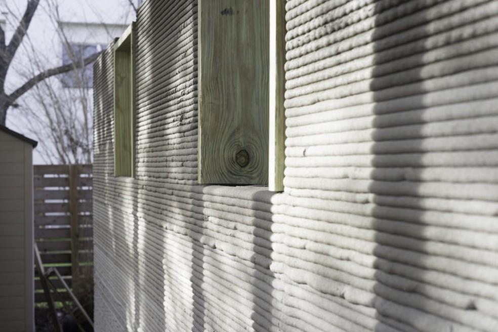 Detalhes de uma casa impressa com a Vulcan (Foto: Divulgação/ Icon)