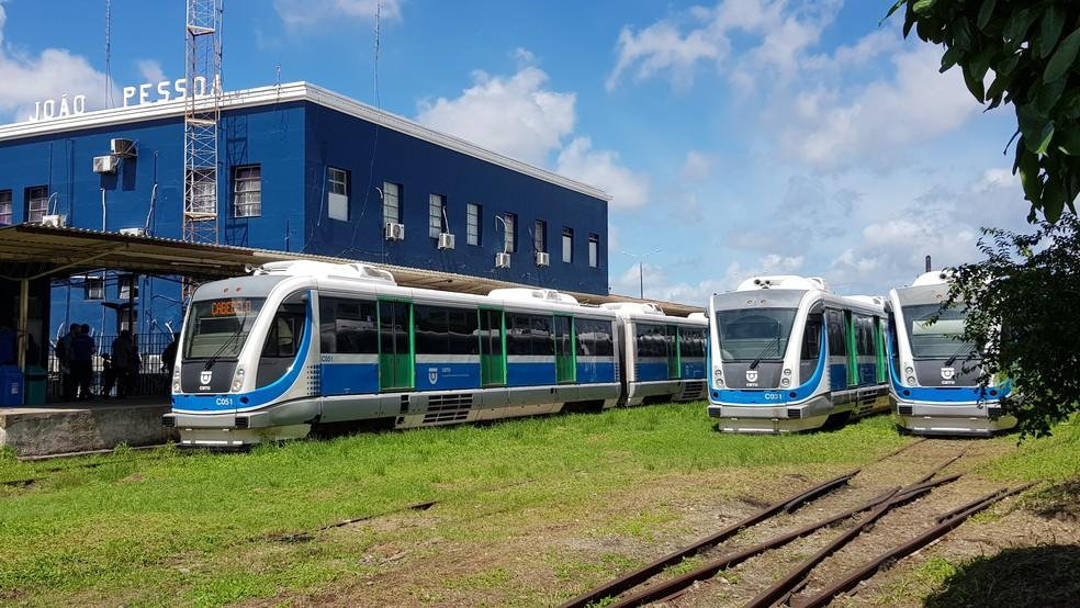 Trens e VLT's não vão operar na Grande João Pessoa nos dias 20, 23 e 24 de junho — Foto: Everaldo Ricardo/Comak - CBTU/Divulgação