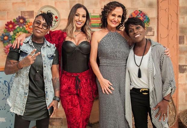 Valesca Popozuda com Faa Morena e a dupla Pepê e Neném (Foto: Divulgação/Andrea Dallevo)