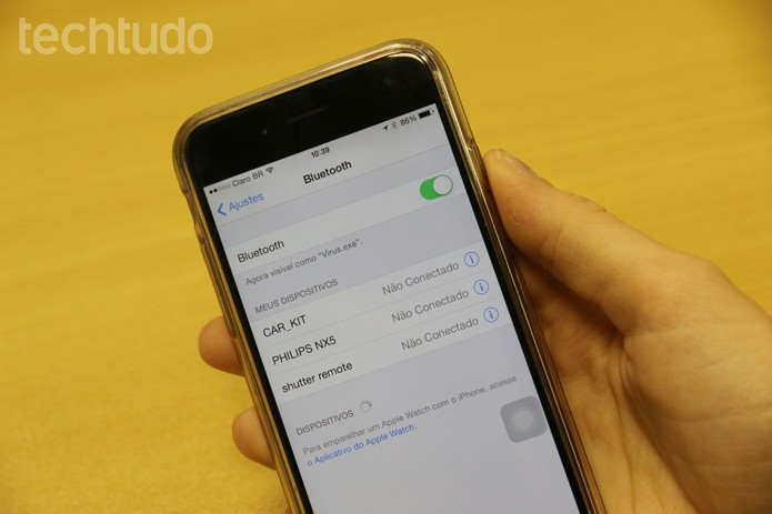 Bluetooth iPhone 6 (Foto: Tainah Tavares/TechTudo)