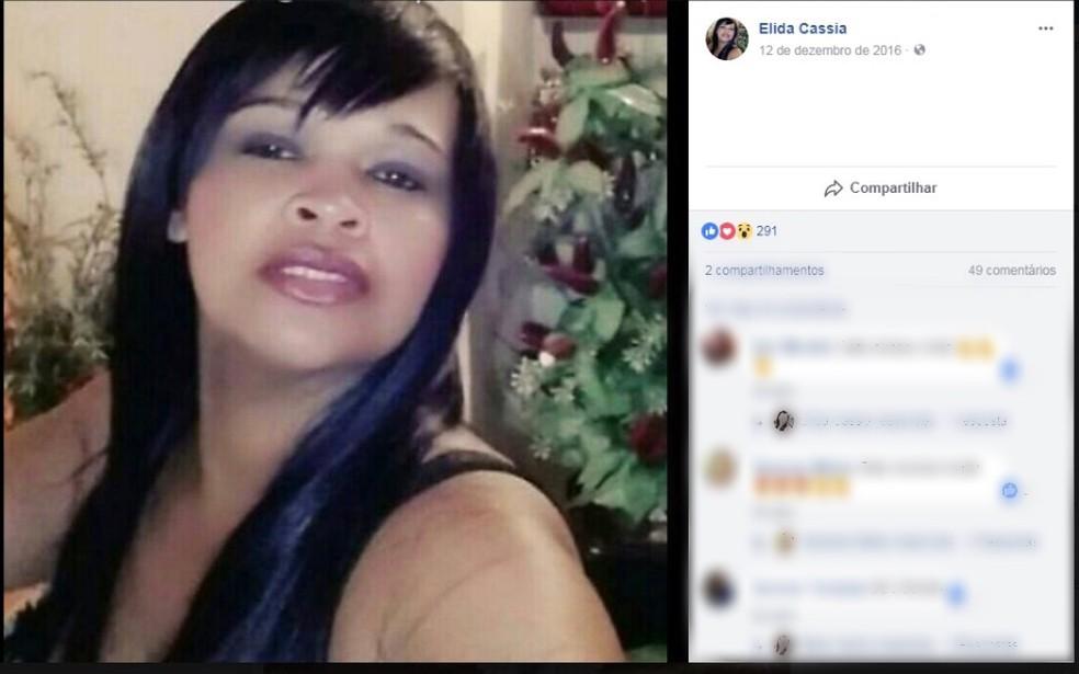 Elida Cássia foi morta pelo ex-marido na tarde desta segunda (23) (Foto: Reprodução/Facebook)