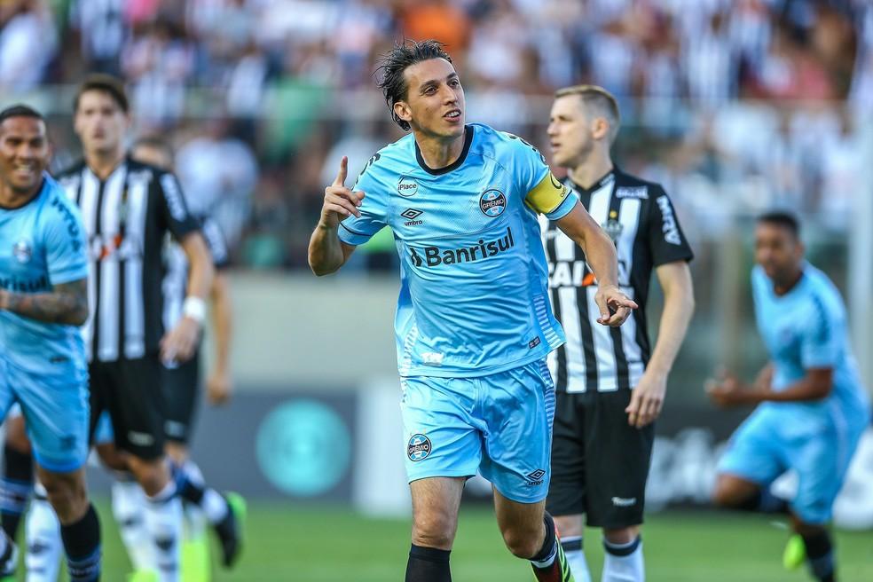 Geromel foi o responsável pelo gol gremista — Foto: Lucas Uebel/Divulgação Grêmio