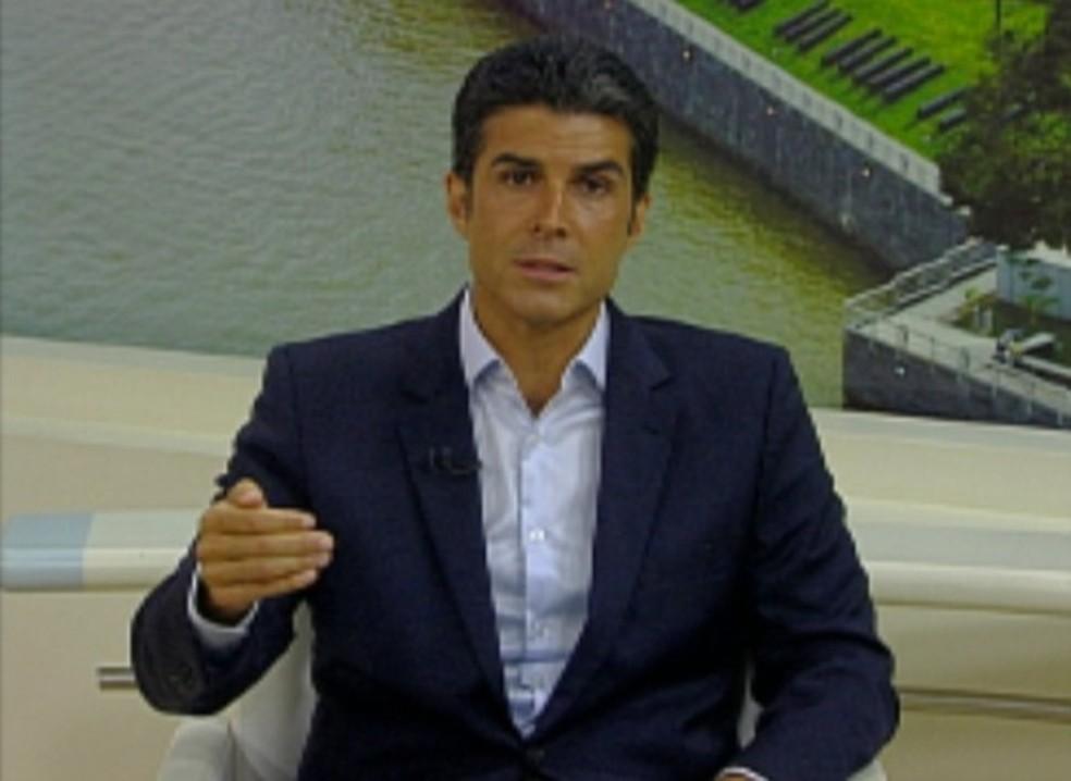 -  Helder Barbalho  MDB , em entrevista ao JL1 nesta segunda-feira  10 .  Foto: Reprodução / TV Liberal