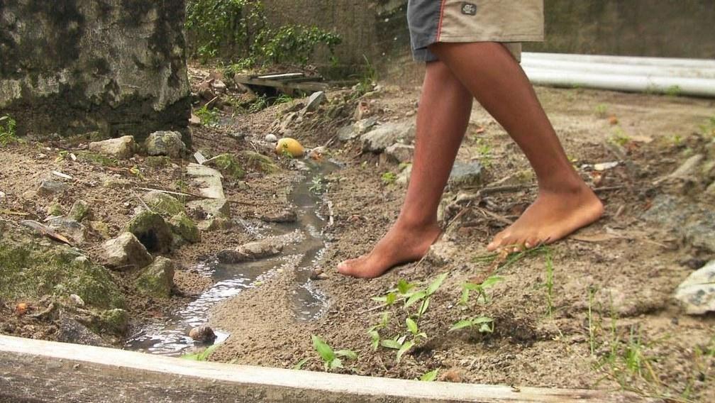 Brasil tem mais de 400 obras de saneamento básico paralisadas segundo dados do Ministério da Economia — Foto: Seplan-MT