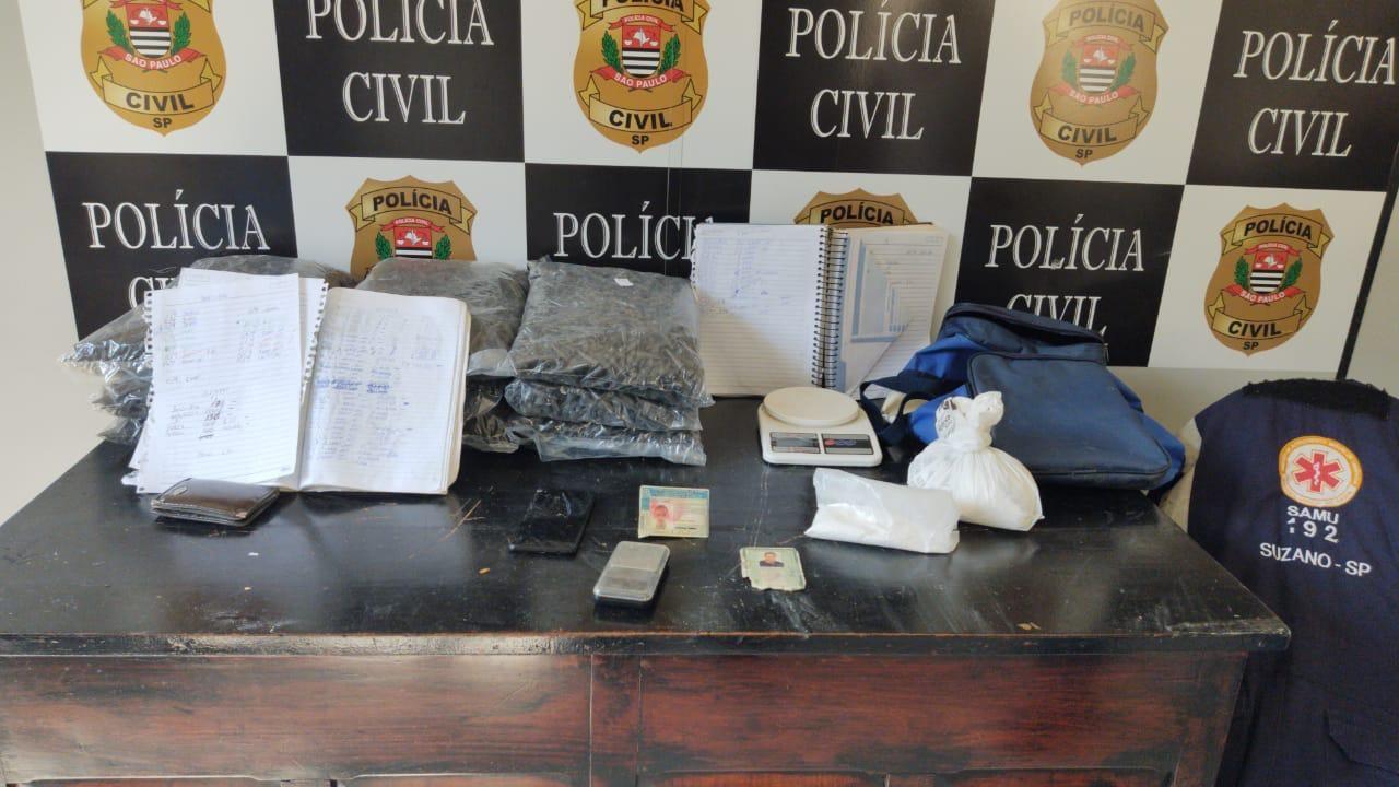 Polícia prende suspeito de usar uniforme do Samu para transportar drogas no litoral de SP