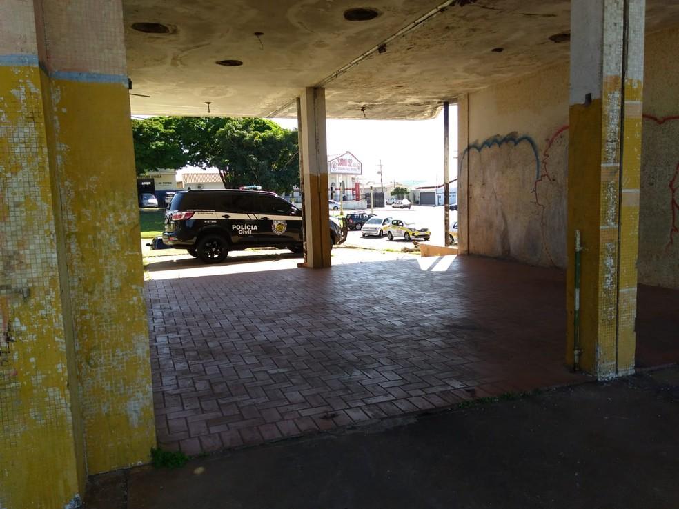 Crime ocorreu na antiga estação ferroviária em Avaré — Foto: Polícia Civil/Divulgação