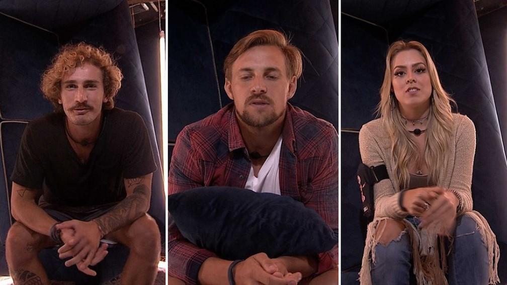 Alan, Diego e Isabella, o Paredão está formado — Foto: TV Globo