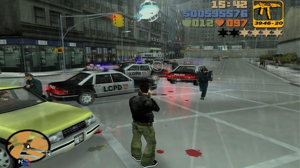 GTA 3 apresentou uma revolução para a série com gráficos em 3D — Foto: Divulgação/Rockstar