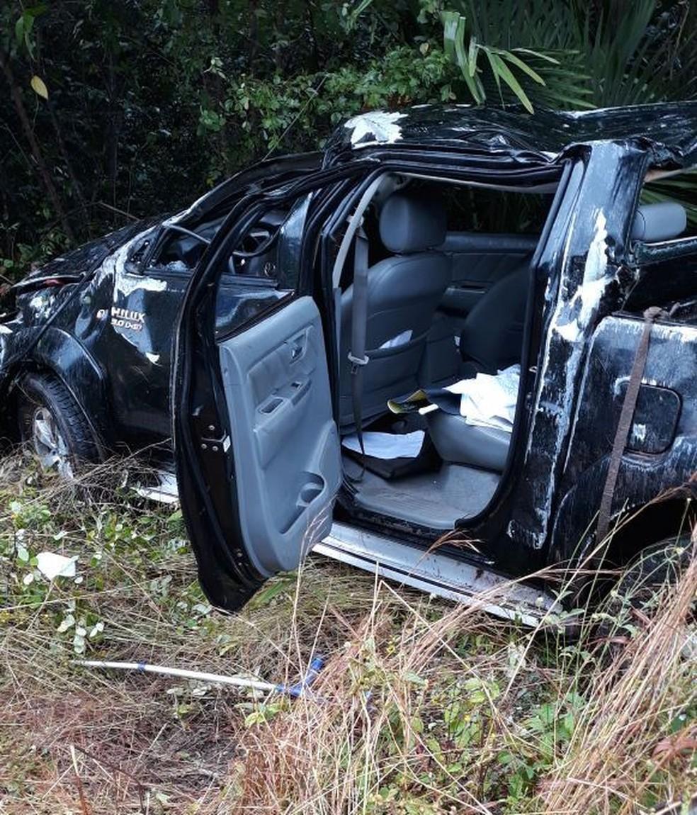 Advogado morre após capotamento de carro na BR-343 no Norte do Piauí. (Foto: Campo Maior em Foco)
