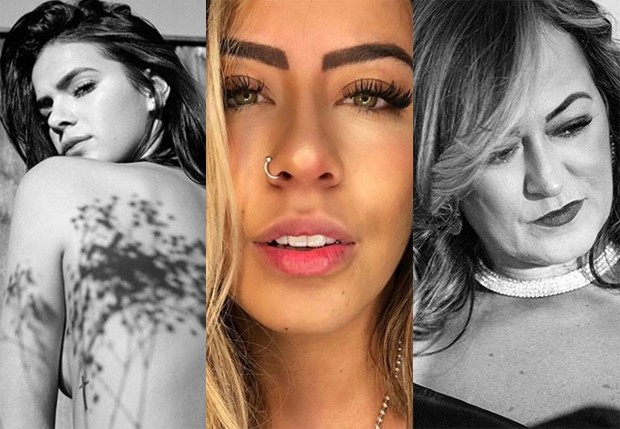 Nadine, Bruna Marquezine e Rafaella Santos, respectivamente mãe, namorada e irmã de Neymar (Foto: Reprodução/Instagram)