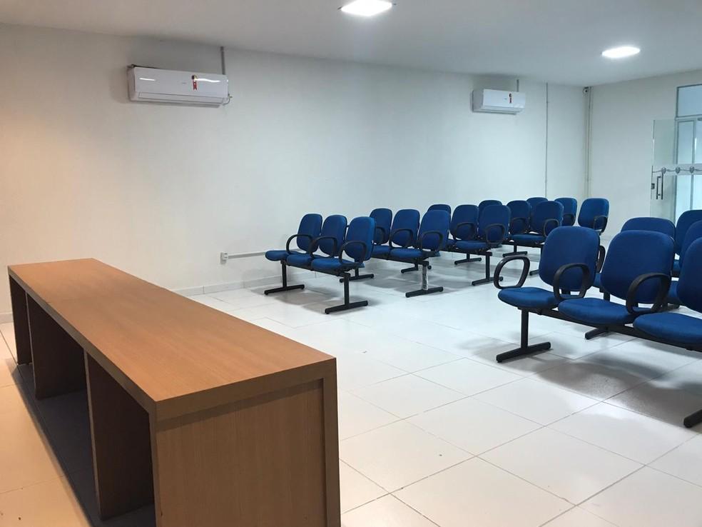Sala de imprensa do Nelsão — Foto: Augusto Oliveira/ASCOM CSA