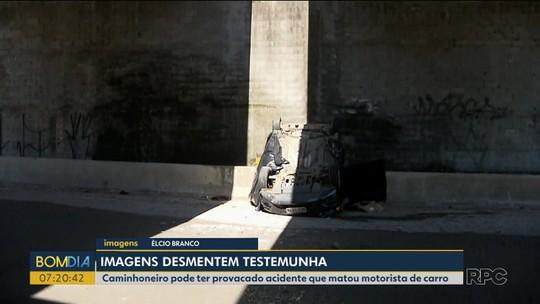 Caminhoneiro envolvido em acidente na Rodovia do Xisto pode responder por homicídio e falso testemunho, diz PRF
