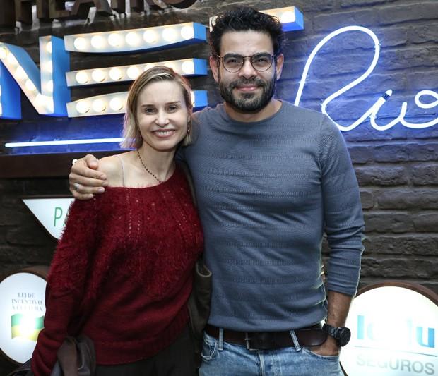 Paula Burlamaqui e Edu Reyes  (Foto: Wallace Barbosa/AgNews)
