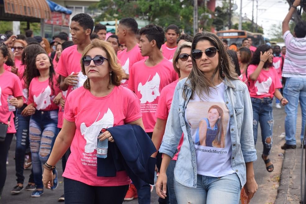 Caminhada contra feminicídio percorreu ruas do centro de São Luís (Foto: Divulgação/MP-MA)