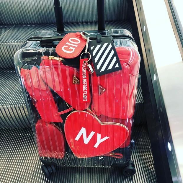 A mala transparente de Giovanna Battaglia (Foto: Instagram Giovanna Battaglia/ Reprodução)