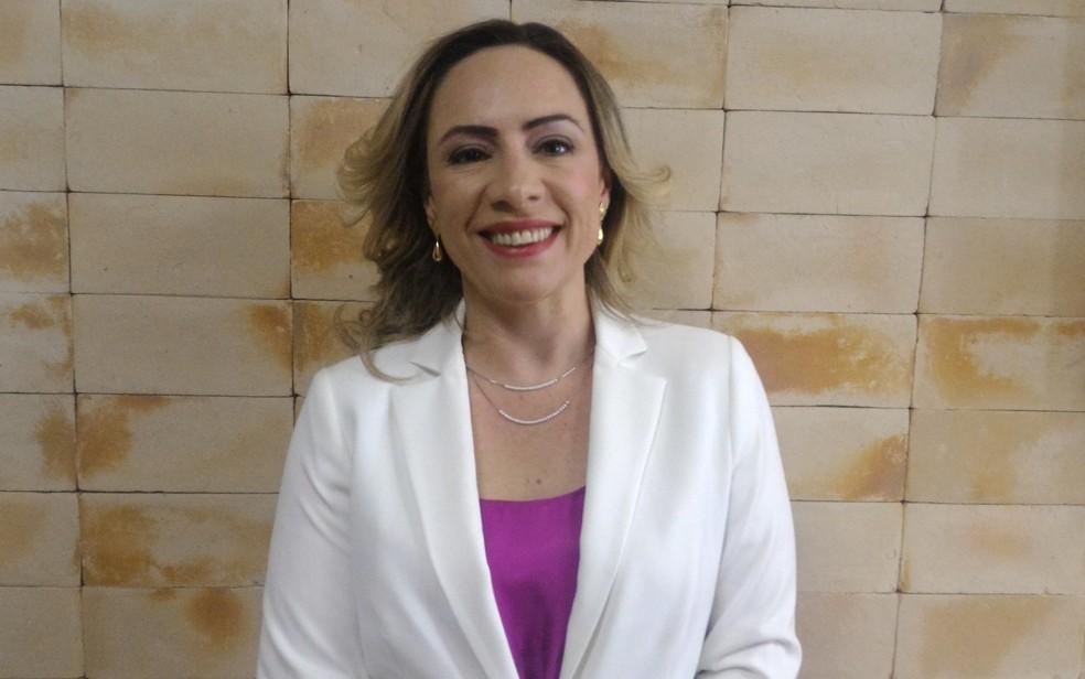 Candidata à Prefeitura de Goiânia pelo PT, Adriana Accorsi  — Foto: Vanessa Martins/G1