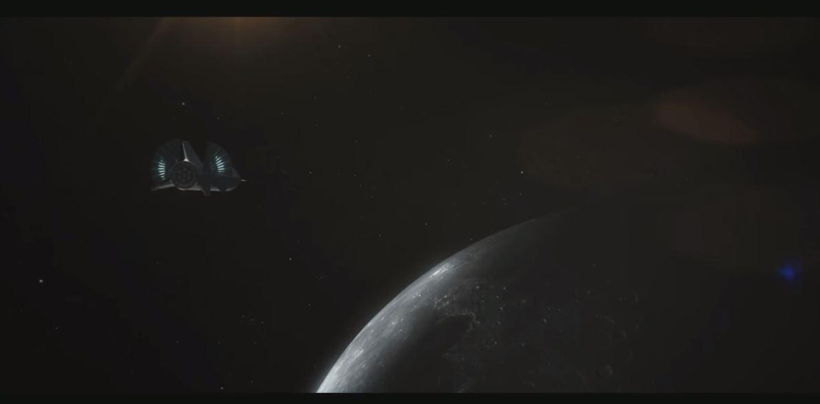 Concepção criativa da Big Falcon a caminho da Lua.  (Foto: SpaceX)
