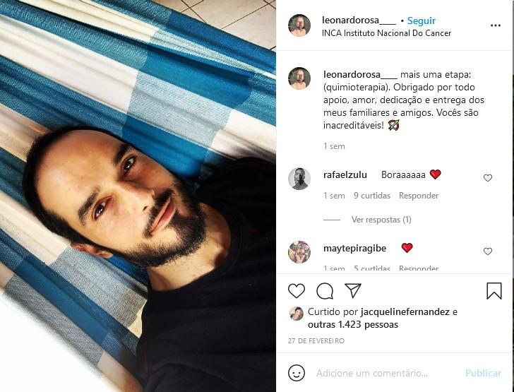 Última foto postada por Léo Rosa (Foto: Reprodução/Instagram)