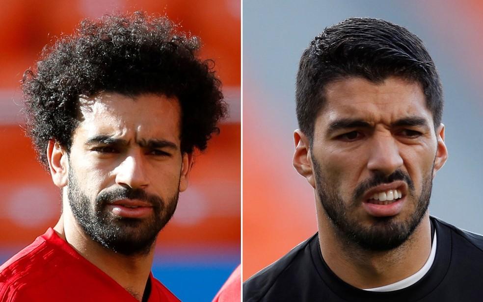 Salah e Suárez (Foto: Damir Sagolj/Reuters; Andrew Couldridge/Reuters)