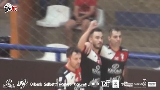 JEC estreia com vitória na Libertadores de Futsal diante do Caracas; confira os gols