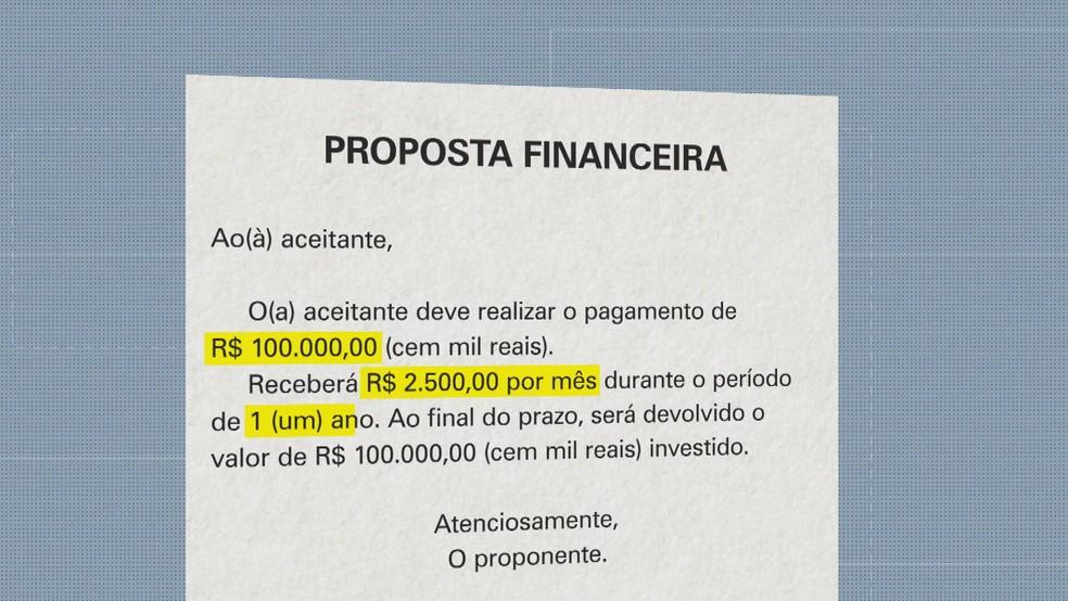 Proposta de retorno era golpe — Foto: Reprodução/TV Globo