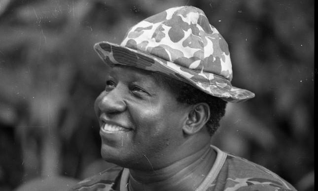 Antônio Carlos Bernardes Gomes, o Mussum, em foto tirada no dia 08 de março de 1988