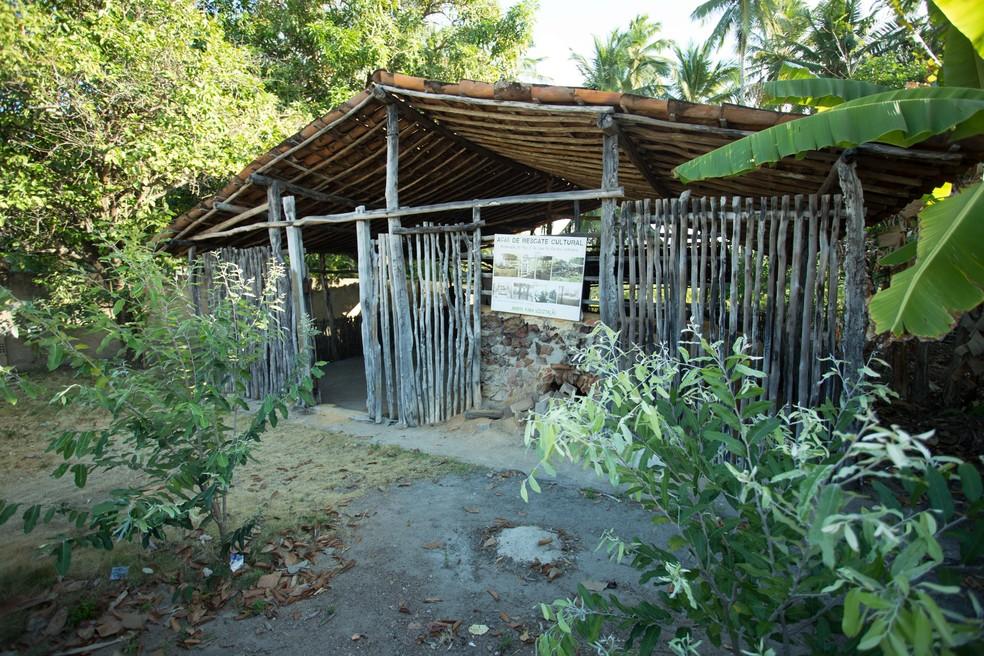 Casa da Farinha localizada em Barra de Camaratuba, em Mataraca, na PB — Foto: Max Brito/Trilhas Potiguaras