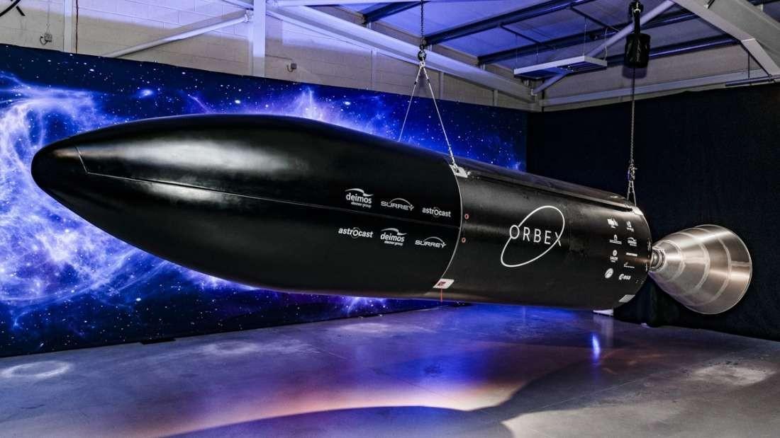 Protótipo do foguete da empresa britânica Orbex (Foto: Divulgação)