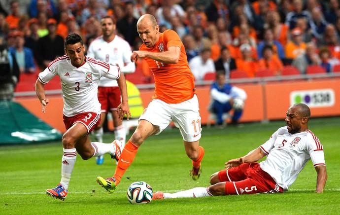 [COPA 2014]Holanda vence último amistoso antes da Copa com passe e gol de Robben