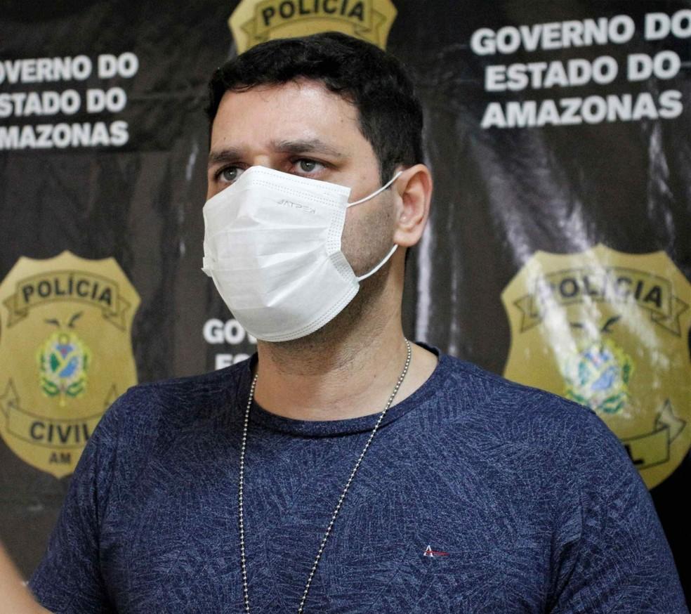 delegado Denis Pinho, titular da DERFD — Foto: PC-AM