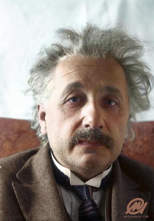 Fotografia de Einstein colorizada por Marina Amaral  (Foto: via Marina Amaral)