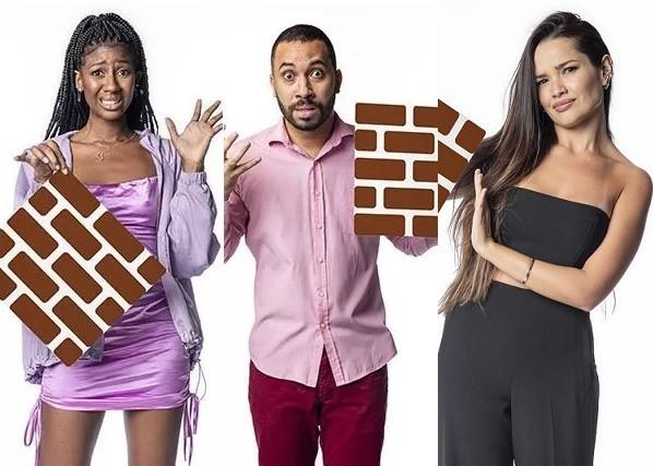 Camilla de Lucas, Gilberto e Juliette estão no paredão do 'BBB' 21 (Foto: Reprodução)